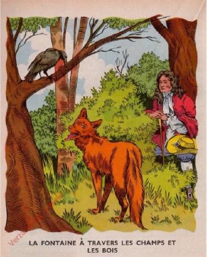 39 - [La Fontaine � travers les champs et les bois]