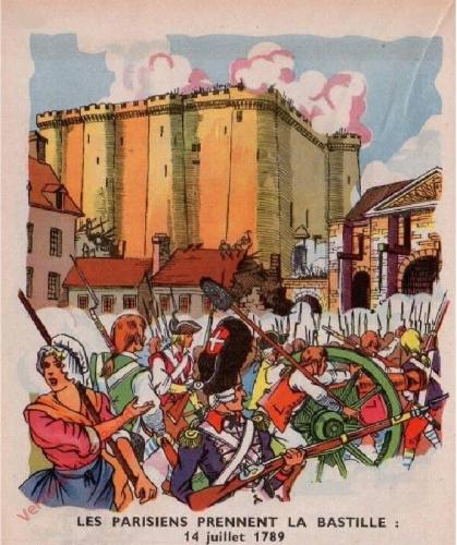42 - [Les parisiens prennant la Bastille; 14 juillet 1789]