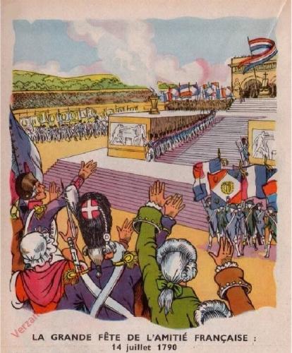 43 - [La grande f�te de l'amiti� francaise; 14 juillet 1790]