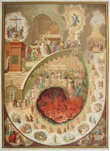 50 - Derde gebod der Kerk – Biecht ten minste eens's jaars uw zonden. Vierde gebod der Kerk – En rond Paschen nut Ons Heer