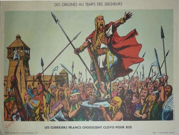 4 - Les guerriers francs choisissent Clovis pour roi