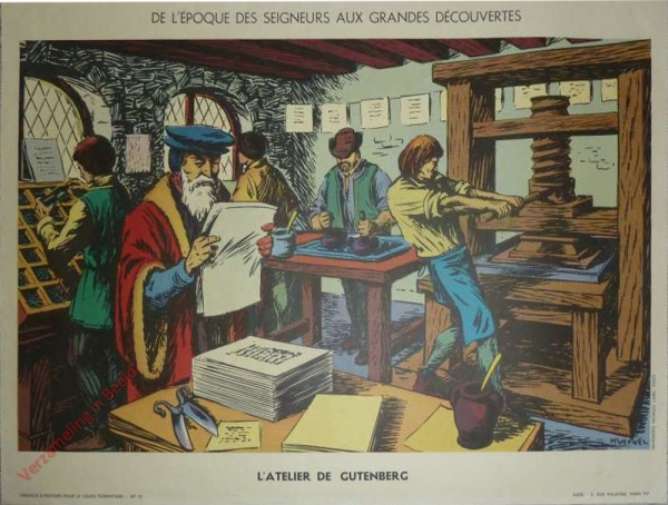 15 - L'atelier de Gutemberg