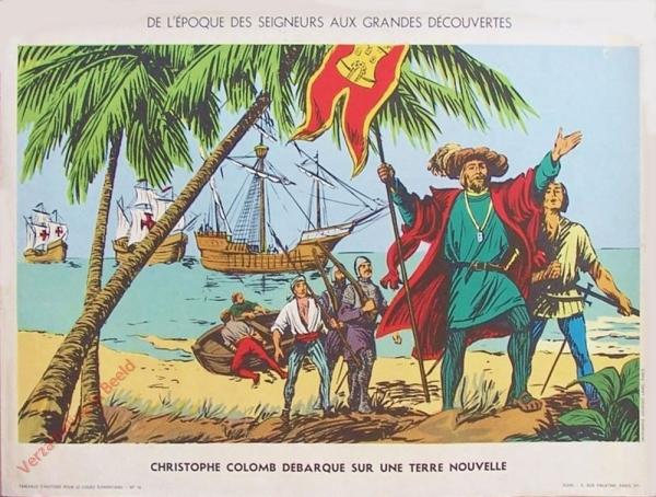 16 - Christophe Colomb débarque sur une terre nouvelle