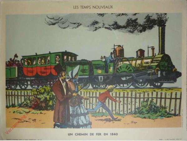 30 - Un chemin de fer en 1840
