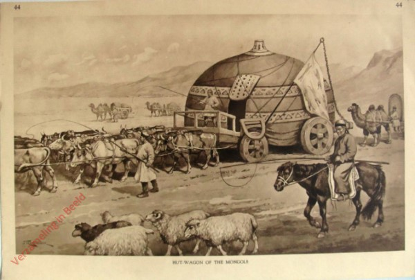 44 - Hut Wagon of the Mongols