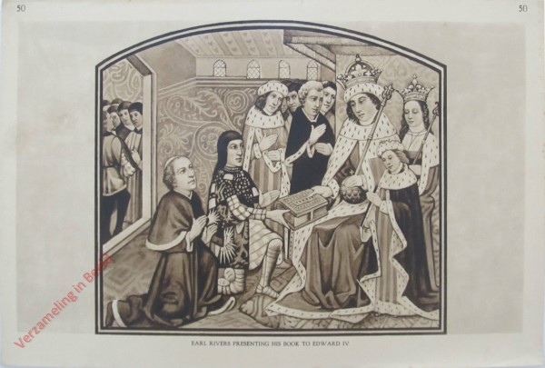 50 - Earl Rivers Presenting his Book to Edward IV