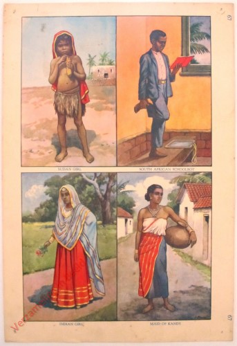 67 - Sudan Girl, South African Schoolboy, Indian Girl, Maid of Kandy