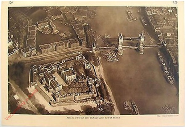 126 - Aerial View of the Thames and Tower Bridge