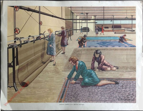 Set 2-73 - Sewing Carpets in a British Factory