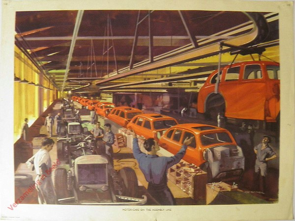 Set 2-110 - Motor cars on the assembly line