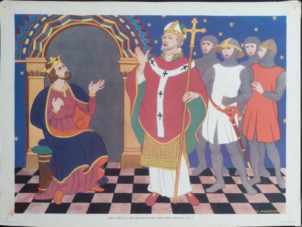 Set 1-8 - King Henry II, Archbishop Becket and some Knights, 12th C.