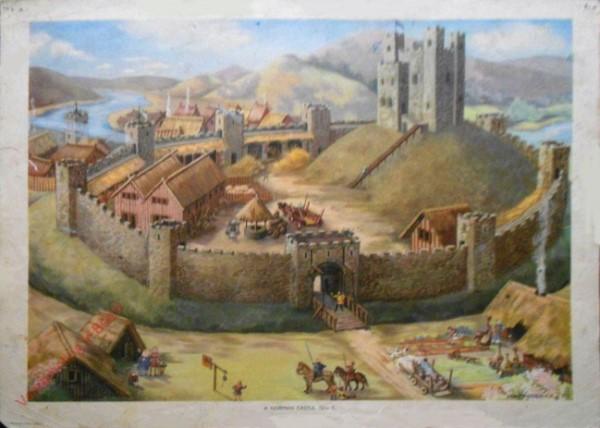 Set 1-9 - A Norman Castle, 12th C.