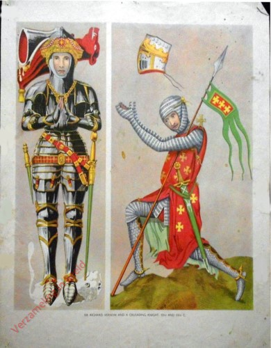 Set 1-12 - Sir Richard Vernon and a Crusading Knight, 15th and 13th C.