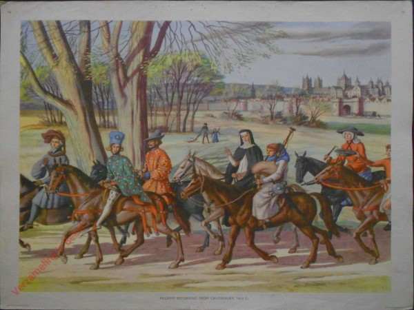 Set 1-16 - Pilgrims Returning from Canterbury, 14th C.