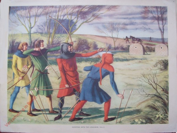 Set 1-31 - Shooting with the Long-bow, 14th C.