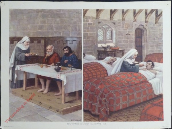 Set 1-32 - Nuns Waiting on Patients in a Hospital, 14th C.