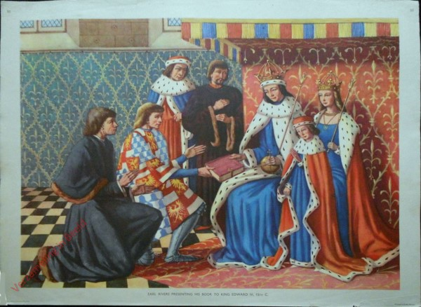 Set 1-50 - Earl Rivers Presenting his book to King Edward IV, 15th C.