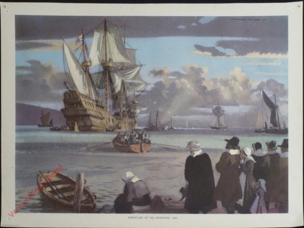 Set 2-79 - Departure of the Mayflower, 1620
