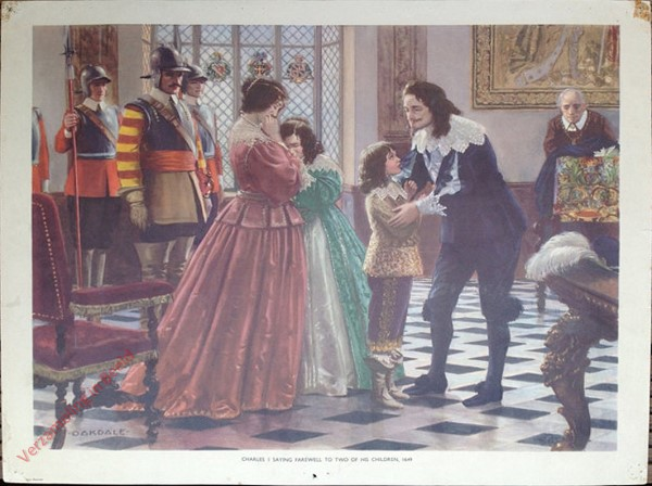 Set 2-80 - Charles I Saying Farewell to Two of His Children, 1649
