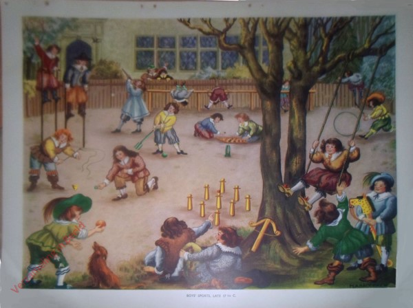 Set 2-82 - 82. Boys Sports late 17th C.