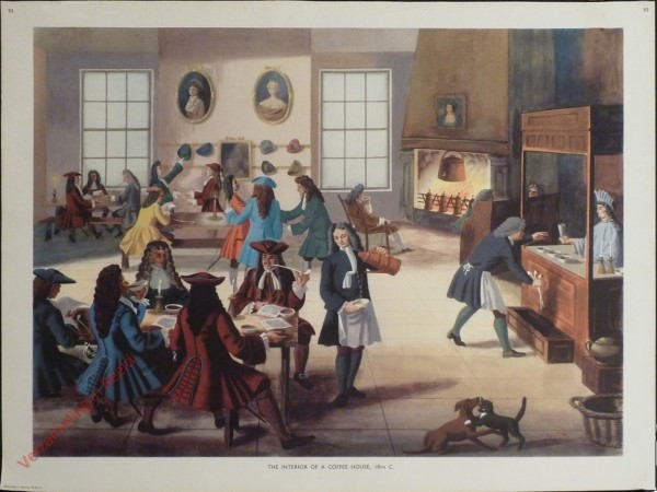 Set 2-93 - The Interior of a Coffee House, 18th C.