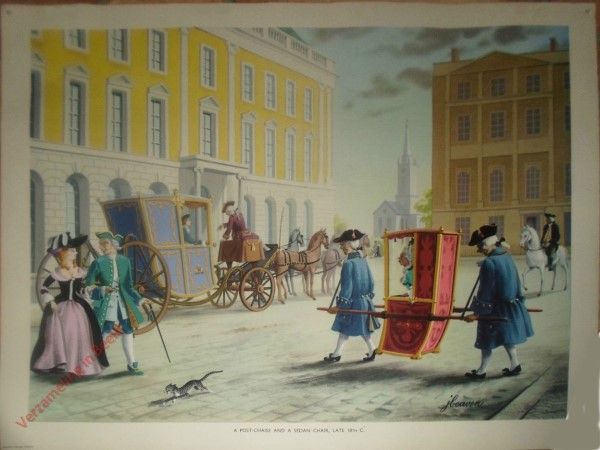 Set 2-97 - A Post-Chaise and a Sedan Chair, Late 18th C.