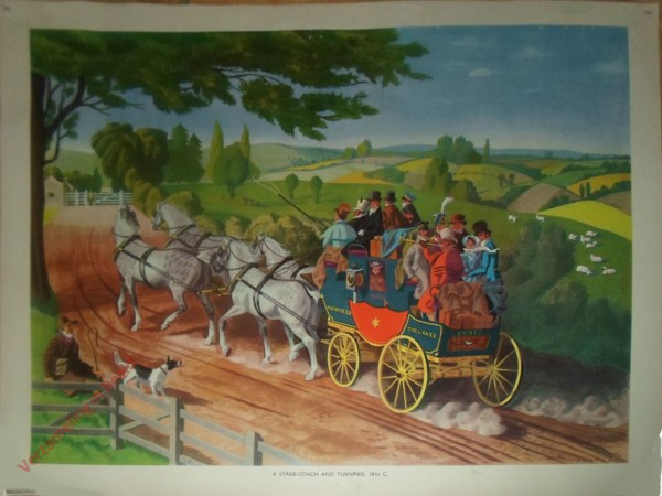 Set 2-104 - A stage-coach and turnpike, 18th C.