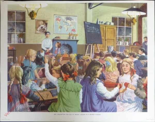 Set 3-129 - 1870. Education for all-a mixed lesson in a board school