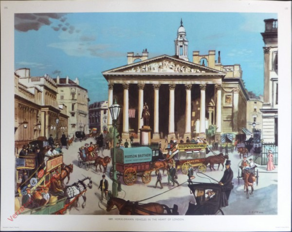 Set 3-135 - 1889. Horse=drawn vehicles in the heart of London