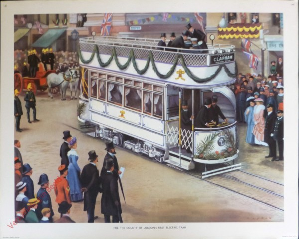 Set 3-141 - 1901. The county of London first electric tram