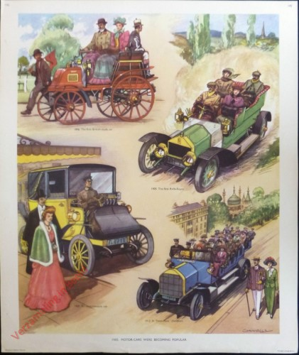 Set 3-142 - 1905. Motor-cars were becoming populair