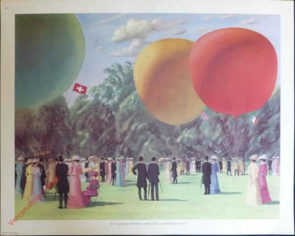 Set 3-147 - 1913. Balloon Contest were still fashionable eventst