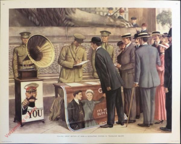 Set 3-148 - 1914-1918. Great Britain at War - A recruiting station in Trafalgar Square