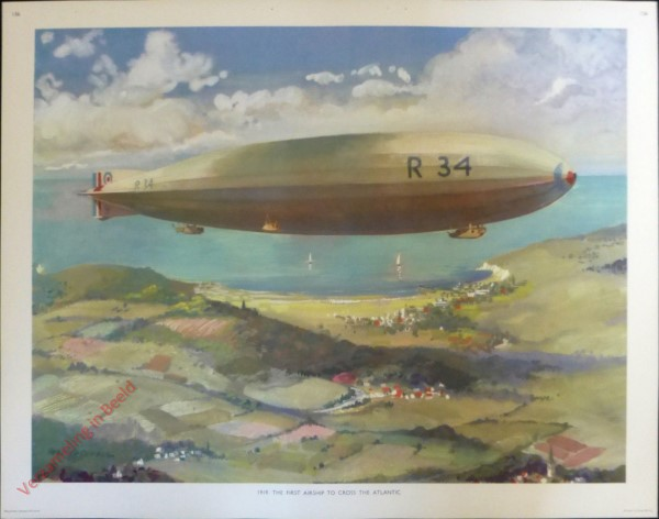 Set 3-156 - 1919. The first airship to cross the Atlantic
