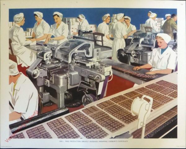 Set 3-158 - 1920. Mass Production Greatly Increases Cadbury's Chocolate