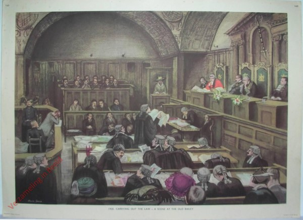 Set 3-160 - 1920. Carrying out the law - Scene at the Old Bailey