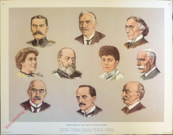 Set 3-162 - Famous people at the turn of the 20th Century