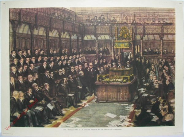 Set 3-166 - 1940. World War II - A Fatefull debate in the House of Commons