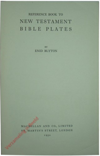 Reference book the New Testament Bible Plates