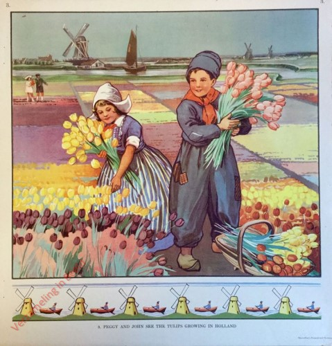 3 - Peggy and John see the Tulips Growing in Holland