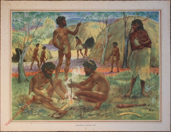 1 - Aborigines making fire