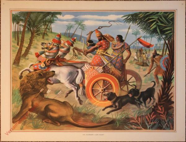 20 - An Assyrian lion hunt