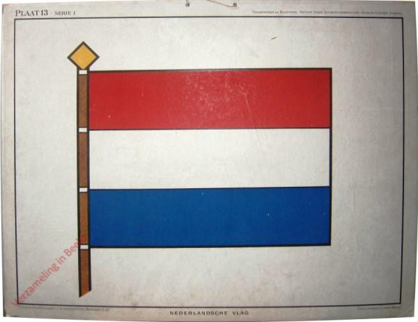 Plaat 13, Serie I - Nederlandsche Vlag