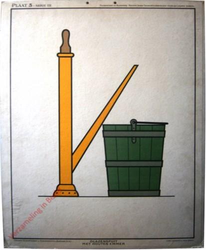 Plaat 5, Serie III - Glazenspuit met houten emmer