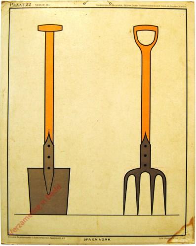 Plaat 22, Serie III - Spa en vork