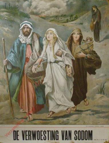 De verwoesting van Sodom (Gen. 19: 1 - 3 ; 12 -29)