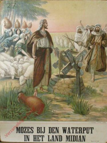 Mozes bij de waterput in het land Midian (Ex. 2: 11 - 25)