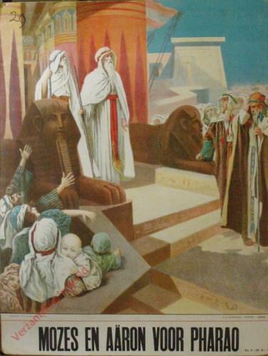 Mozes en Aaron voor Pharao (Ex. 4 : 29 --; 6: 1)