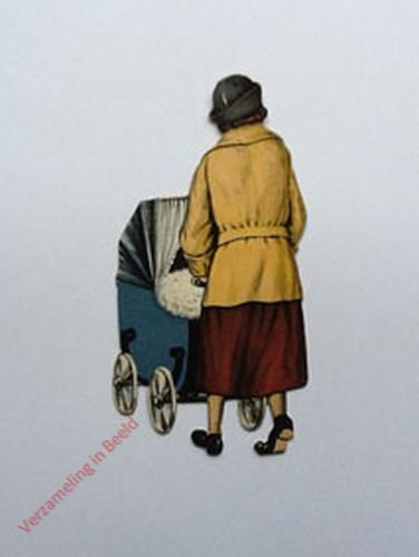 11 - [Vrouw met kinderwagen, achterkant]