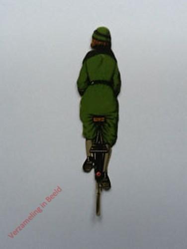 15 - [Vrouw op fiets groen, achterkant]